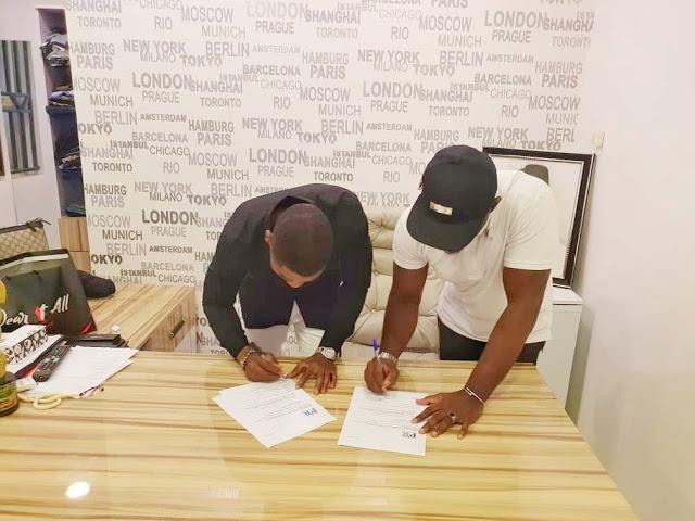 Photos: Jim Iyke signs multi million ambassador deal with Wear It All men