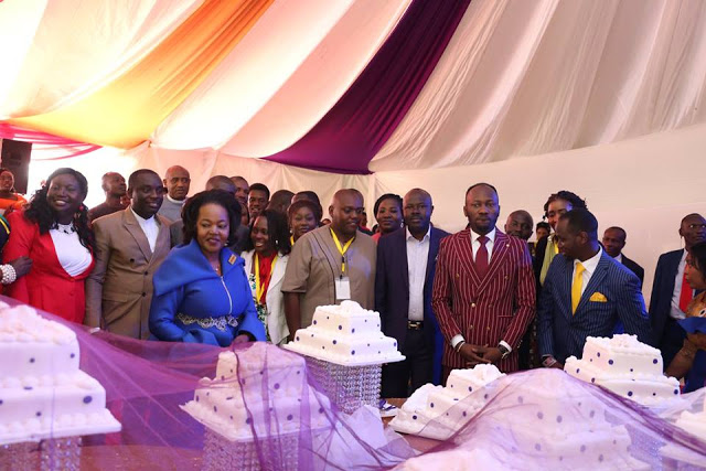 Check out the number of cakes given to Apostle Suleman on his birthday by Kenyans