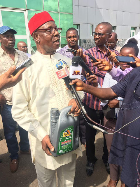 Standards organisation of Nigeria (SON), endorses Seahorse Lubricant Industries Limited at a tour of its state of the arts production facilities