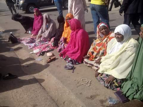 Photos: Supporters gather in front of court to pray against Buhari and EFCC over arraignment of ex-Kano Governor, Shekarau
