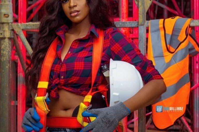BBNaija Star Ahneeka Looking Really Cute In Colorful Construction Clothing As She Marks Her BirthdayToday
