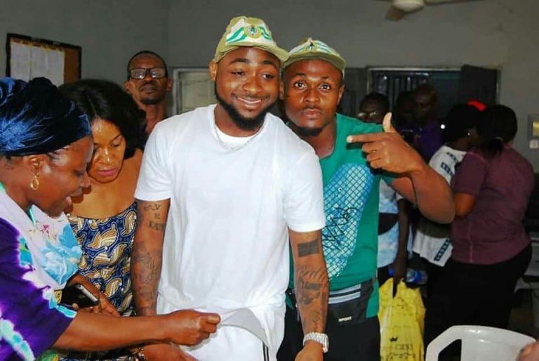 Fans Rush Davido During His NYSC Registration At Lagos Orientation Camp(Photos)