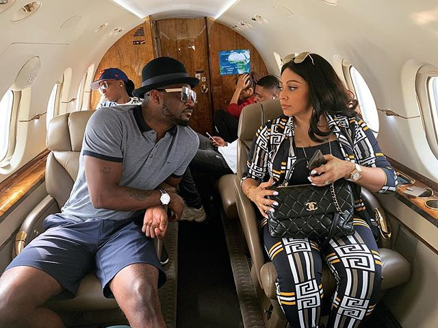 Peter Okoye And Wife, Lola Omotayo-Okoye Jet Out In Style