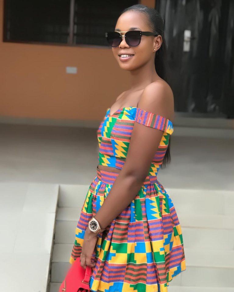 How Cute The Ghana, Kente African Print Gown Looks On ThisLady