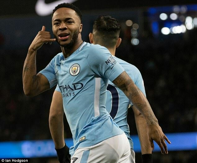 Sterling seals first trophy for Manchestercity
