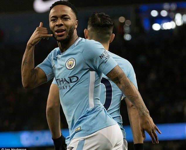 Sterling seals first trophy for Manchester city