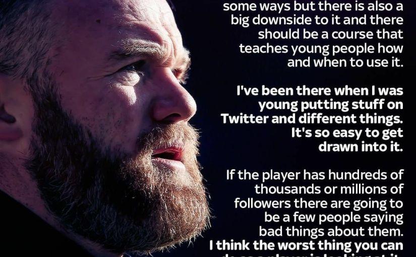 Rooney Speaks on Education ofFootballers..