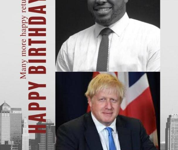 Kia kia gas CEO wish to have a dinner with his birthday mate Boris Johnson Prime minister of UK