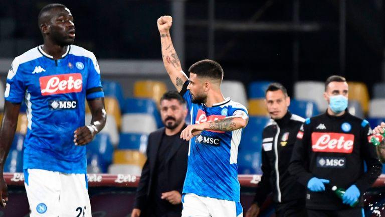 NAPOLI 1-1 INTER MILAN( Aggregate 2-1 Mertens fires club into coppa Italiafinals.)