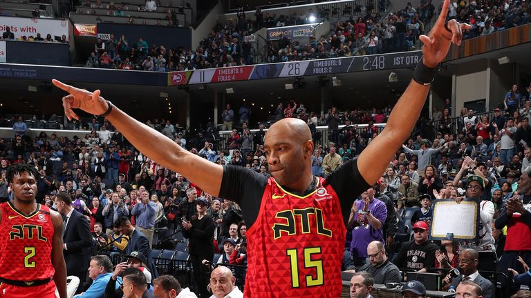 Carter finished his 22 years career with the Atlanta Hawks